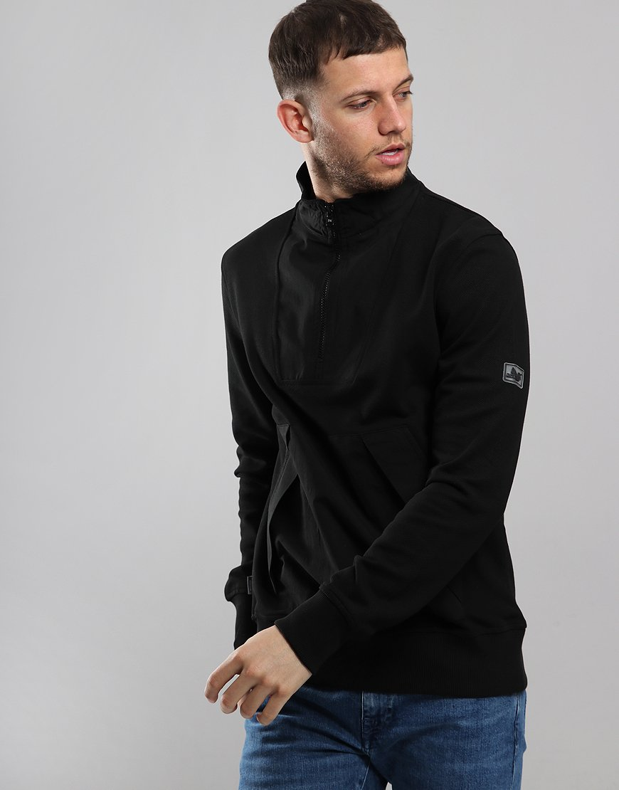 Peaceful Hooligan Grayson Funnel Neck Sweat Black