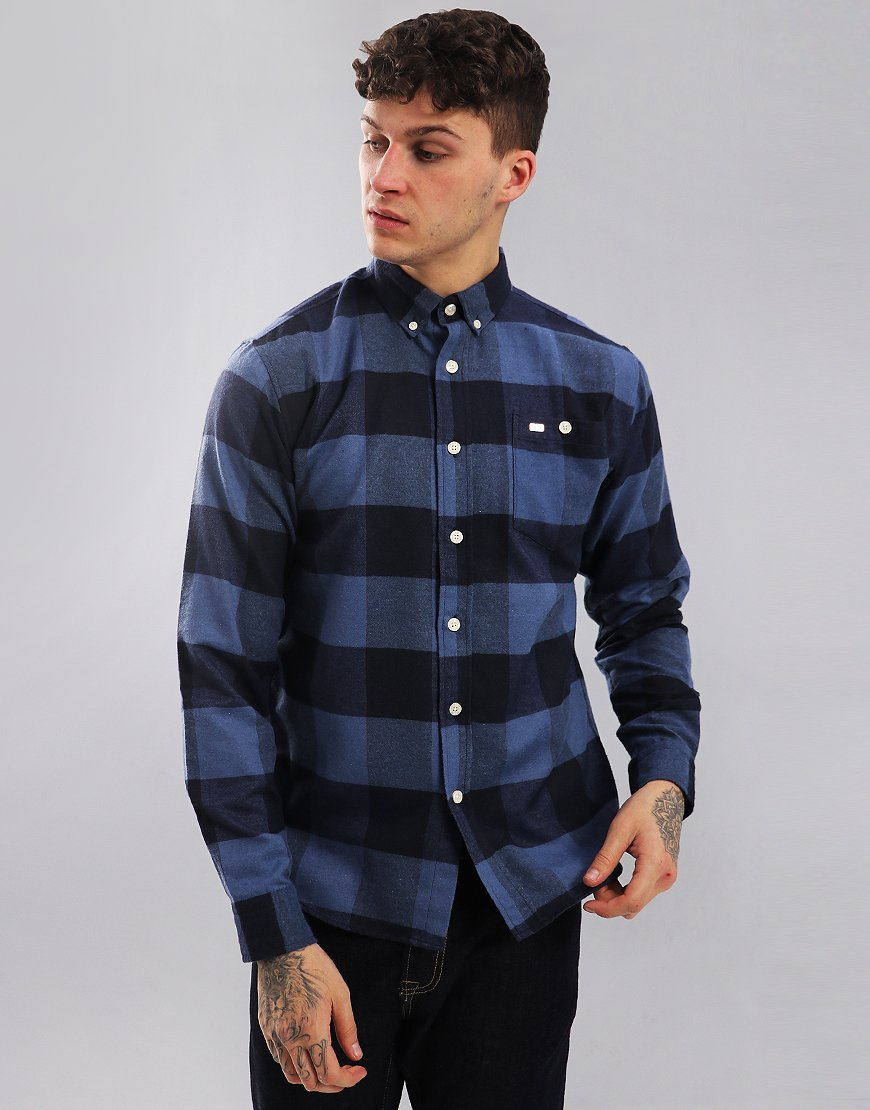 Peaceful Hooligan Blythe Long Sleeve Shirt Blue/Navy