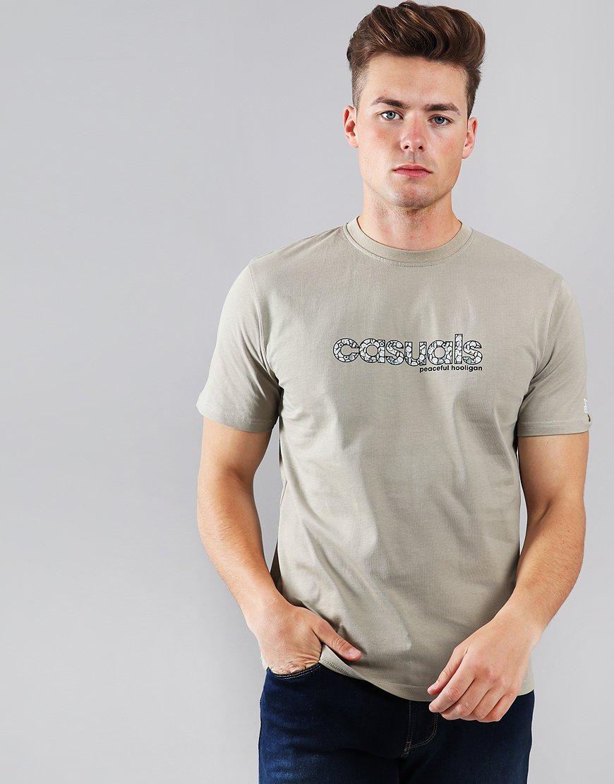 Peaceful Hooligan Casuals T-Shirt Grey