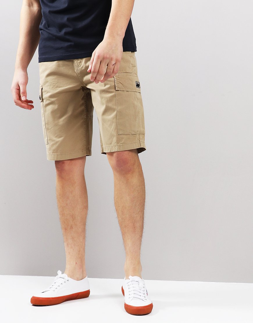 Peaceful Hooligan Container Cargo Shorts Stone