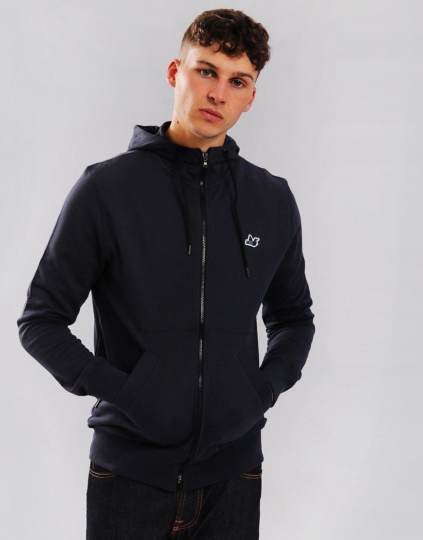 Peaceful Hooligan Core Zip Hoodie Navy
