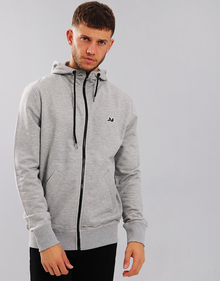 Wonderlijk Peaceful Hooligan Core Zip Hoodie Marl Grey - Terraces Menswear ZA-73