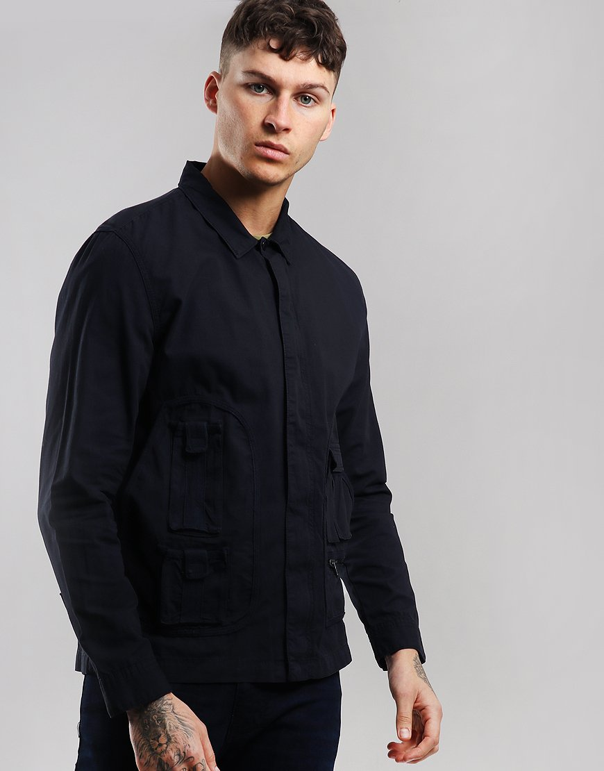 Peaceful hooligan Jefferson Overshirt Navy