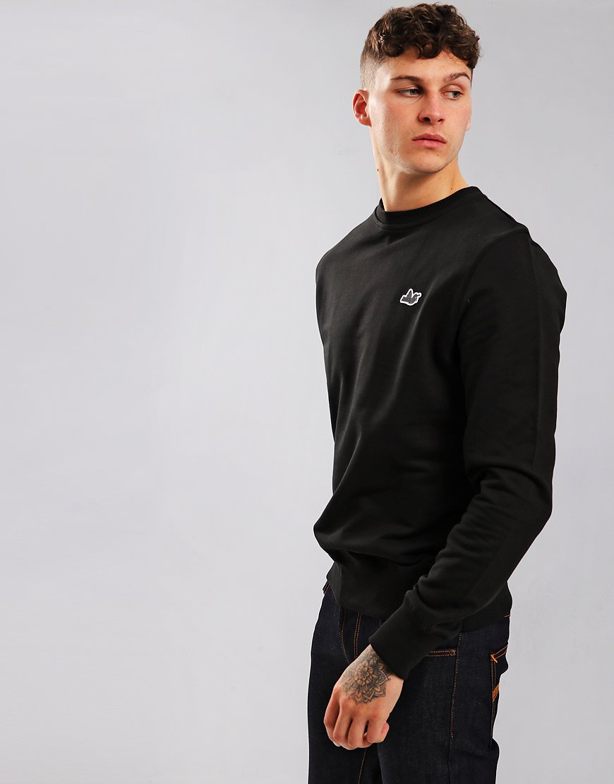 Peaceful Hooligan Johnson Crew Neck Sweat Black