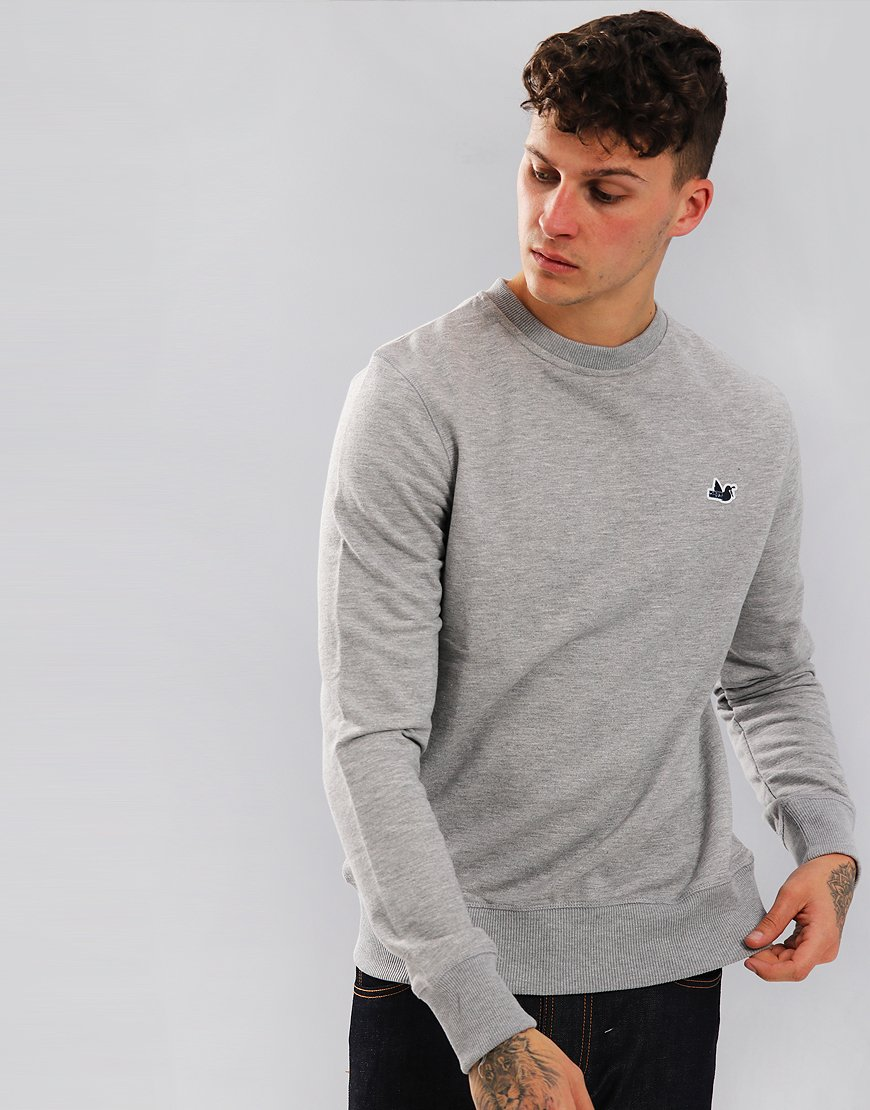Peaceful Hooligan Johnston Sweatshirt Grey Marl