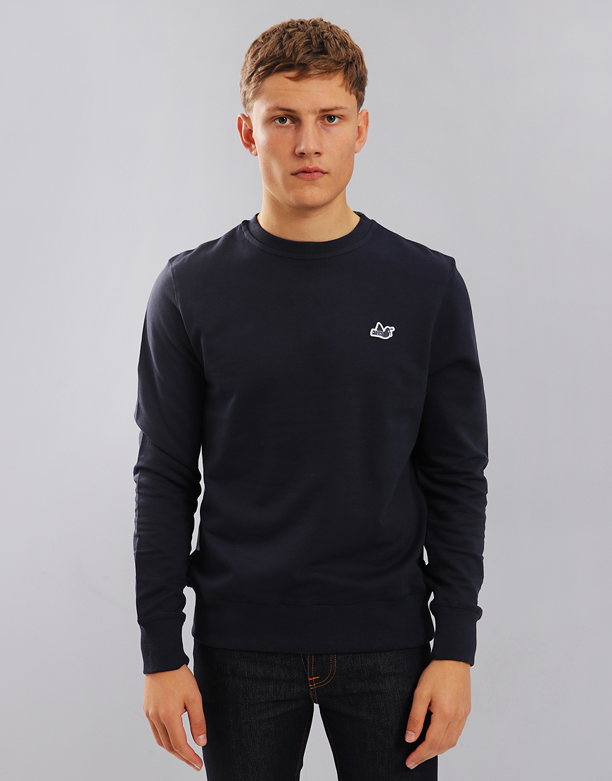 Peaceful Hooligan Johnson Crew Neck Sweat Navy