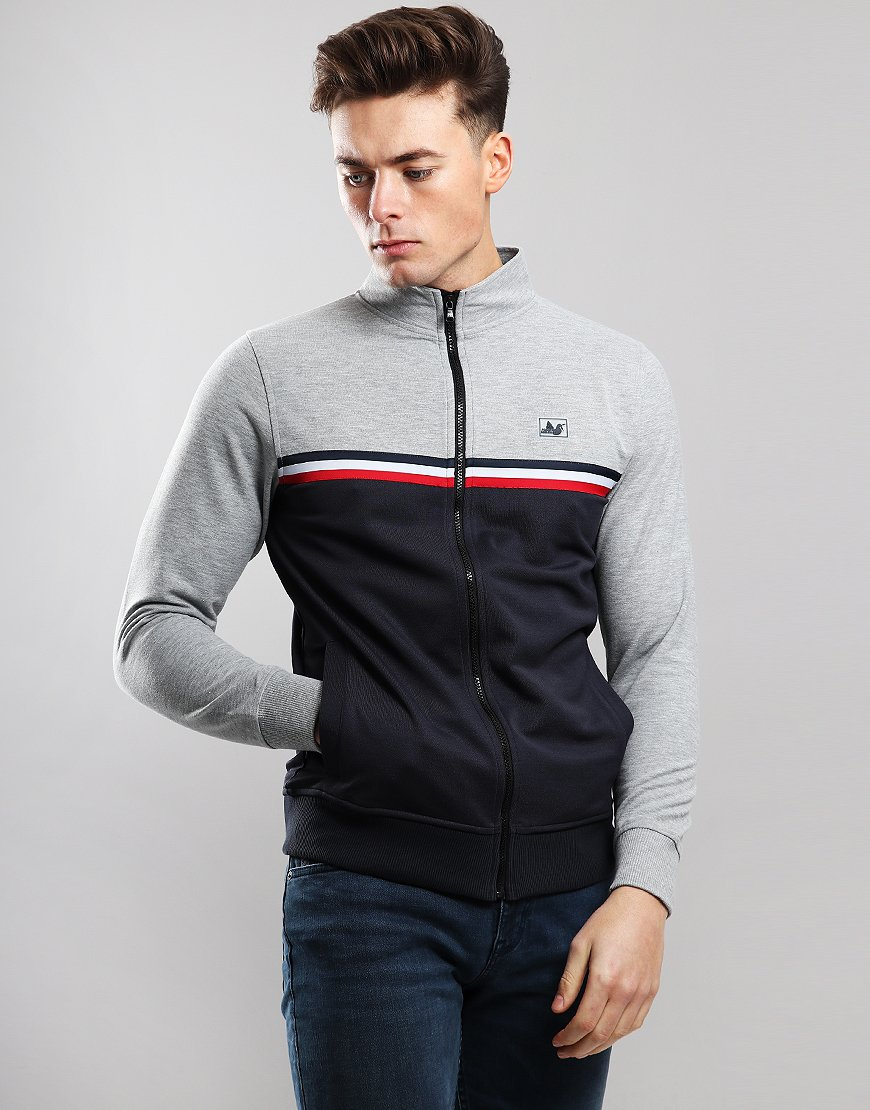 Peaceful Hooligan Joshua Track Top Marl Grey