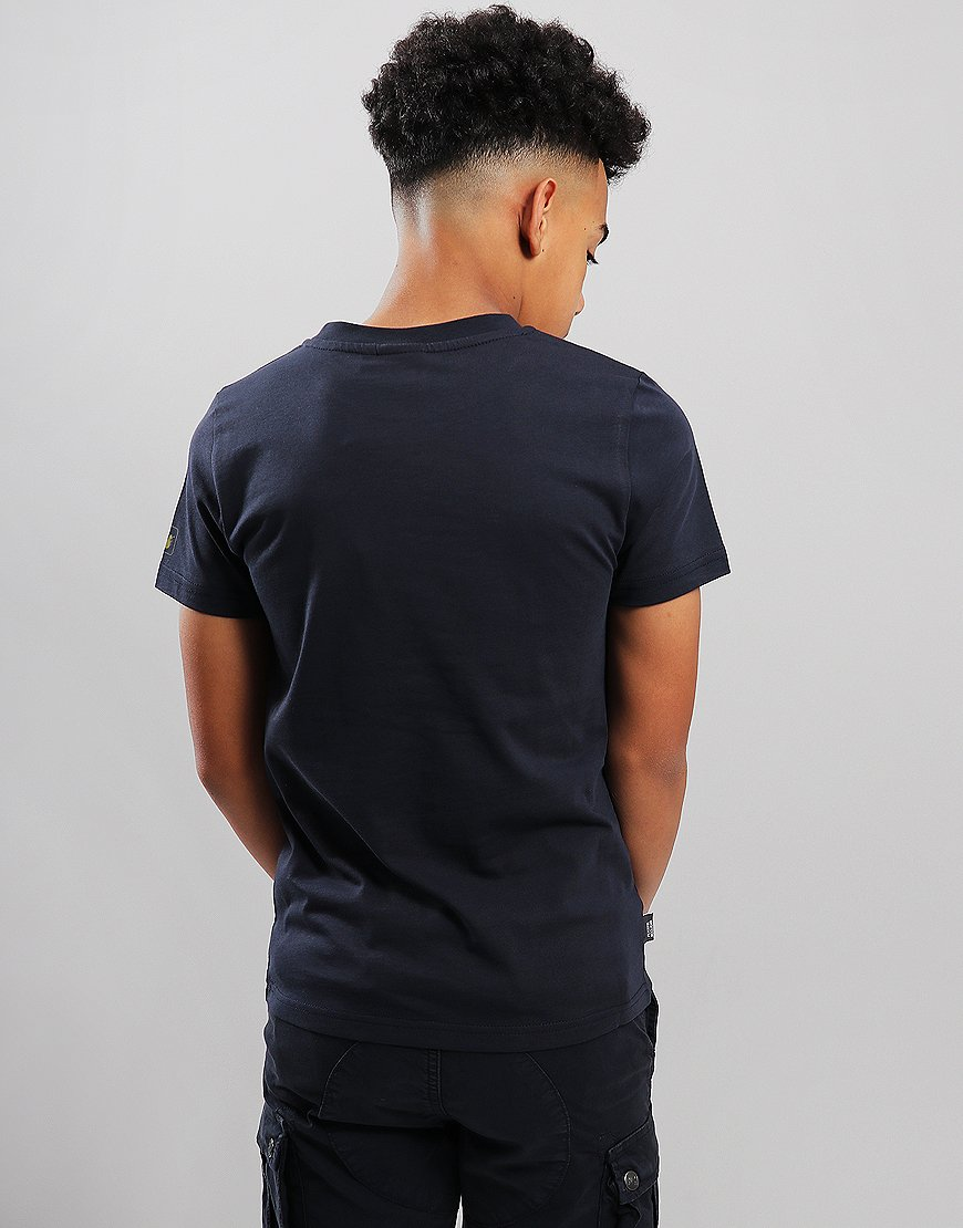Peaceful Hooligan Junior Dot T-Shirt Navy
