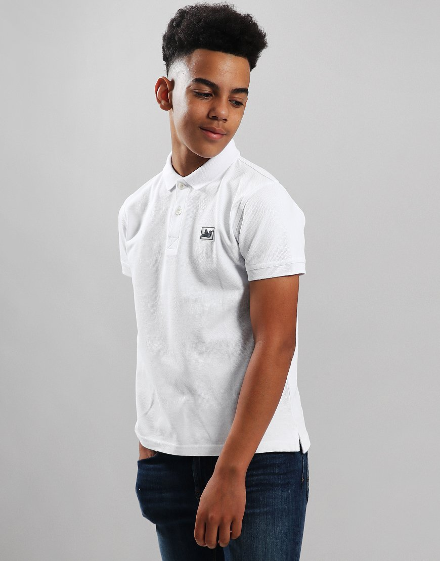 Peaceful Hooligan Junior Dylan Polo Shirt White