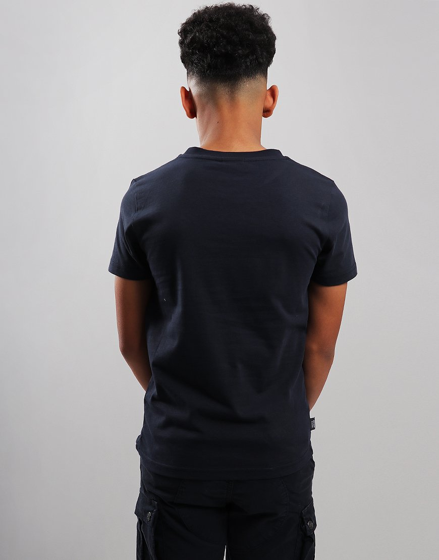 Peaceful Hooligan Junior Head Dazzle T-Shirt Navy