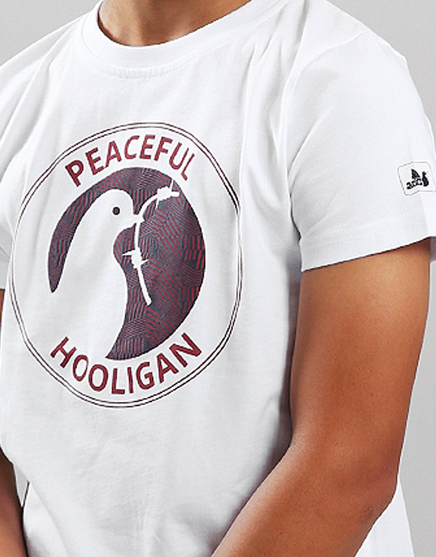 Peaceful Hooligan Junior Head Dazzle T-Shirt White