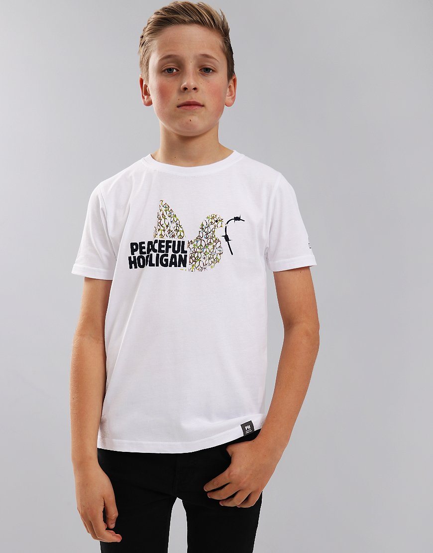 Peaceful Hooligan Junior Peace In Fill T-Shirt White