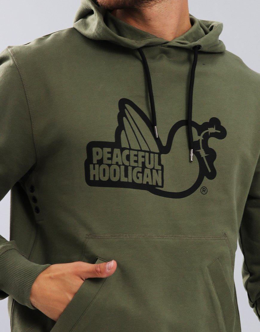 Peaceful Hooligan Outline Hoodie Khaki