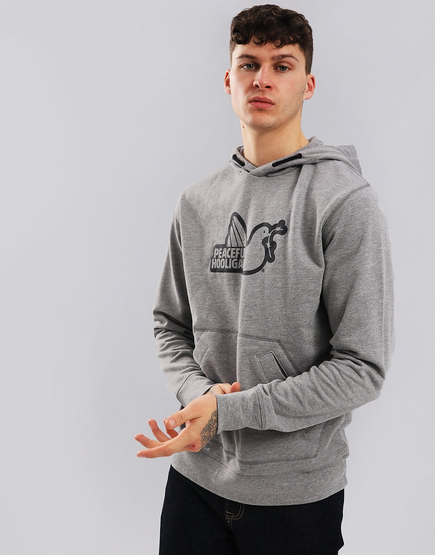 Peaceful Hooligan Outline Hoodie Grey