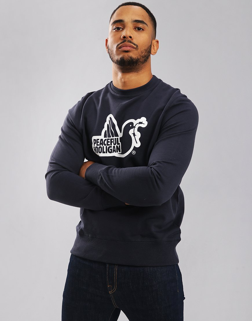 Peaceful Hooligan Outline Sweatshirt Navy