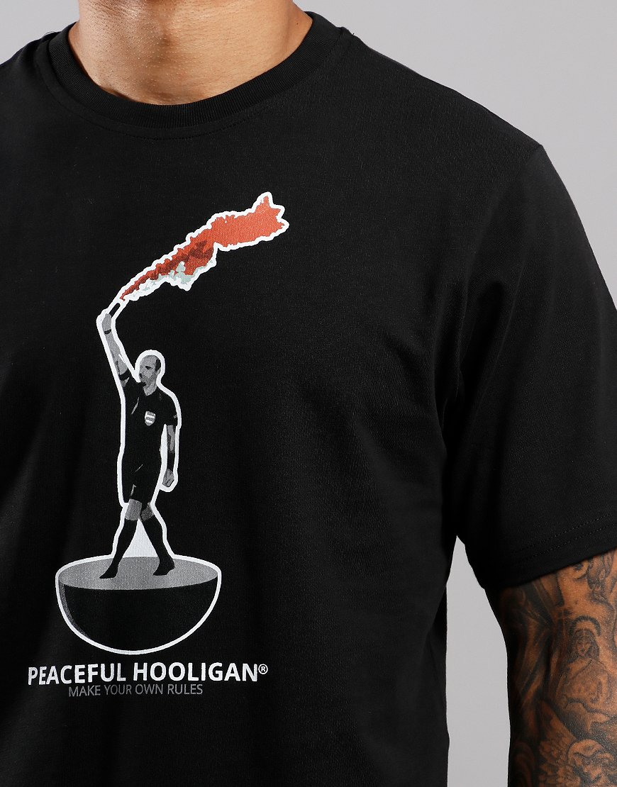 Peaceful Hooligan Referee T-Shirt Black