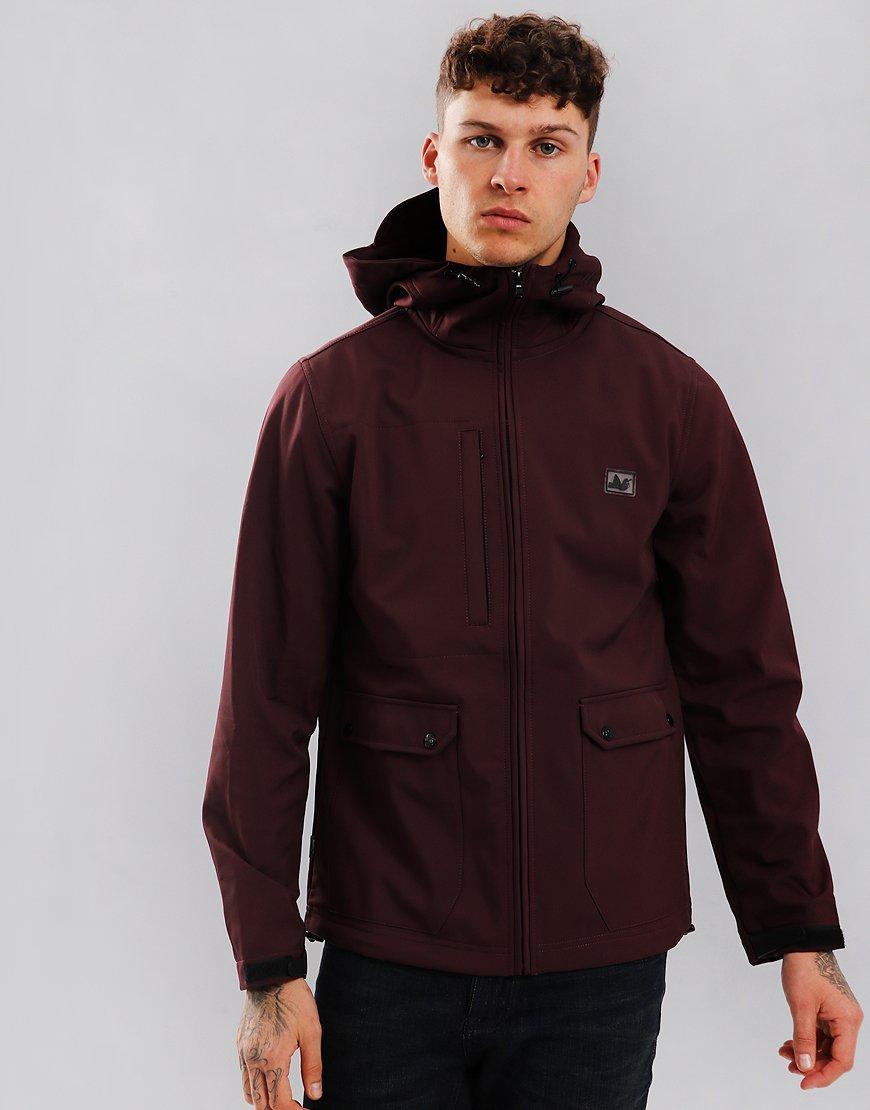 Peaceful Hooligan Skyline Soft Shell Jacket Claret