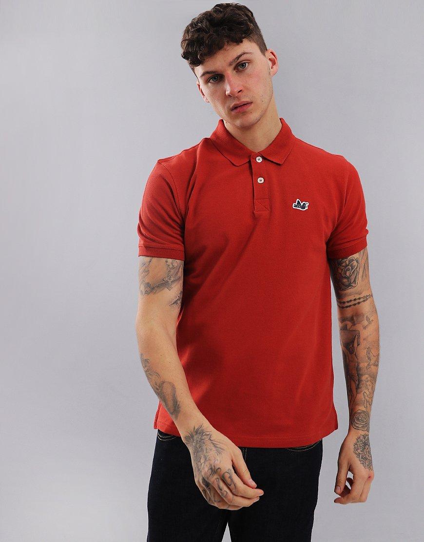 Peaceful Hooligan Steward Polo Shirt Rust Red
