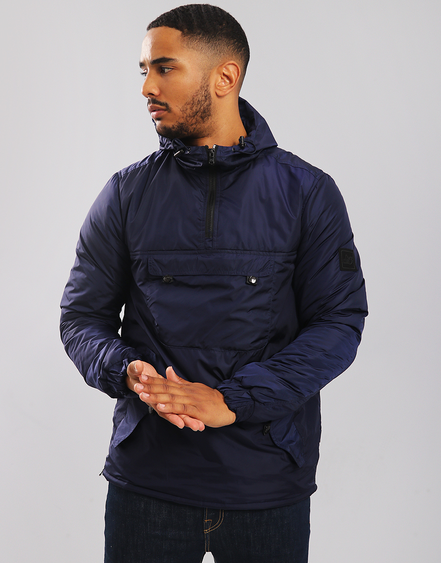 Peaceful Hooligan Sutherland Quilted Smock Jacket Navy