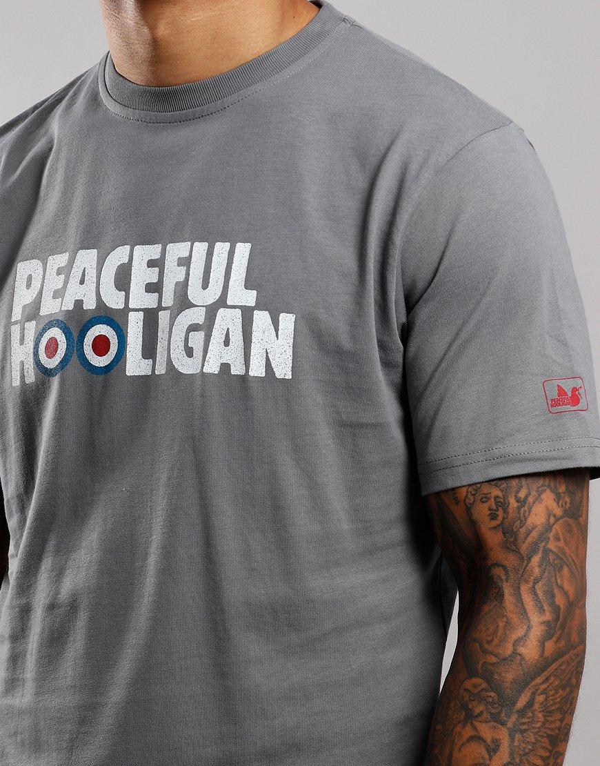 Peaceful Hooligan Target T-Shirt Steel