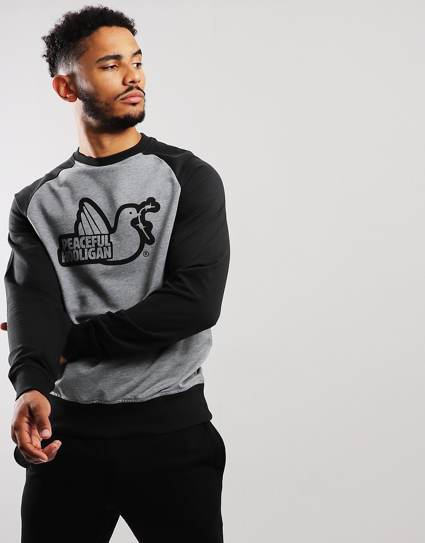 Peaceful Hooligan Thornley Crew Sweat Grey/Black