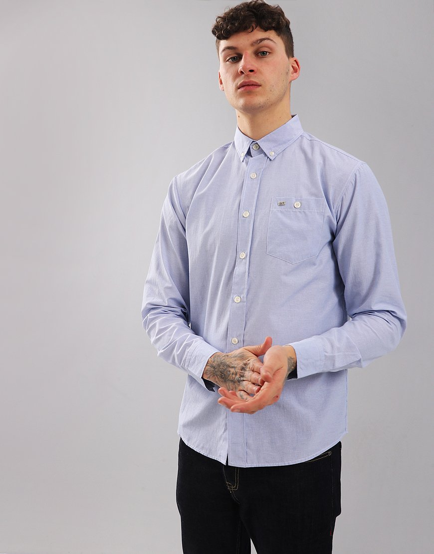 Peaceful Hooligan Wakefield Long Sleeve Shirt Blue