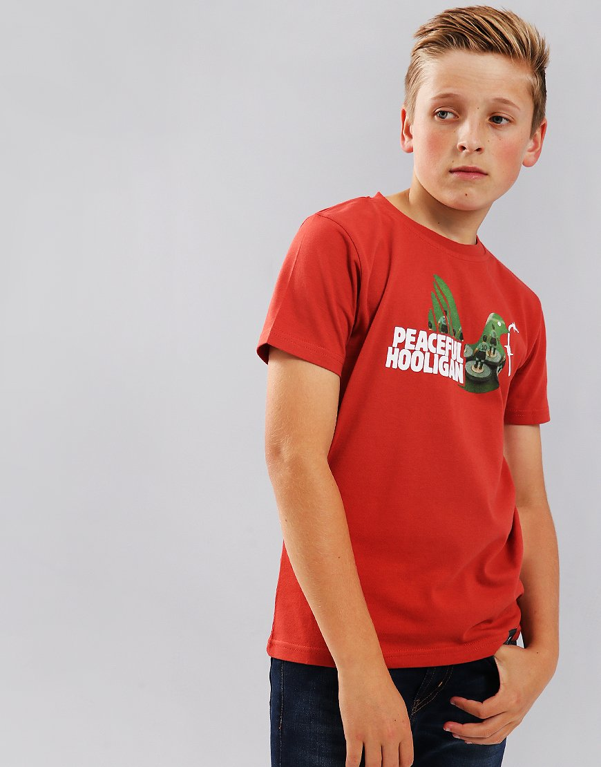 Peaceful Hooligan Junior Subbuteo T-Shirt Red