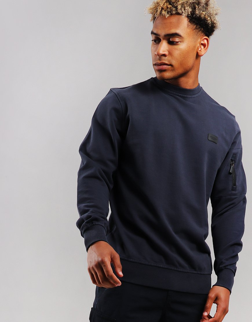 Peaceful Production Crew Sweat Navy