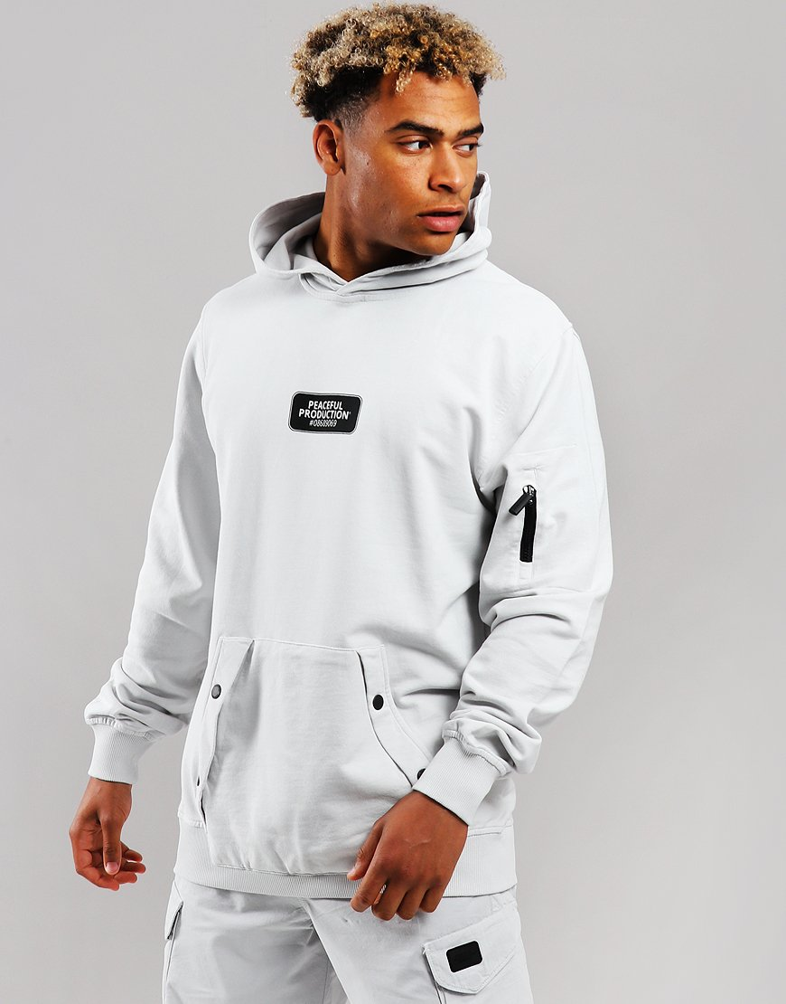 Peaceful Production Micro Hooded Sweat Ice
