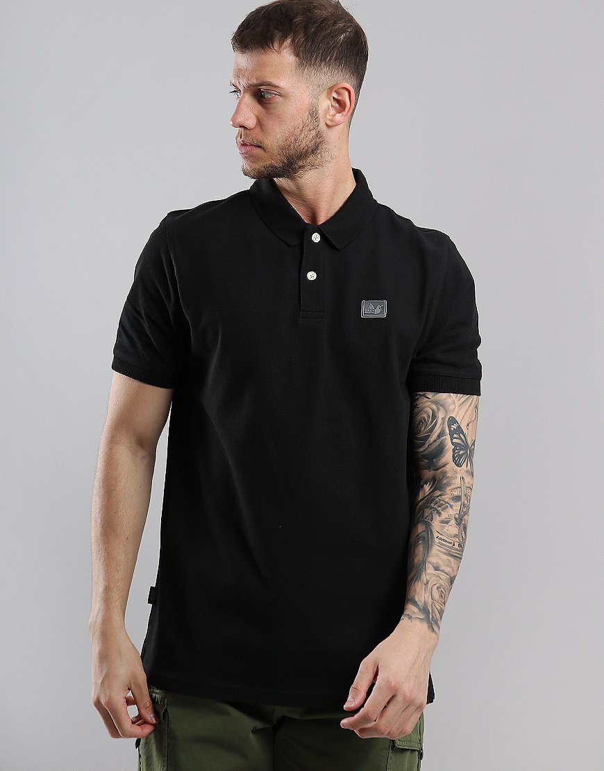 Peaceful Hooligan Quinn Polo Shirt Black