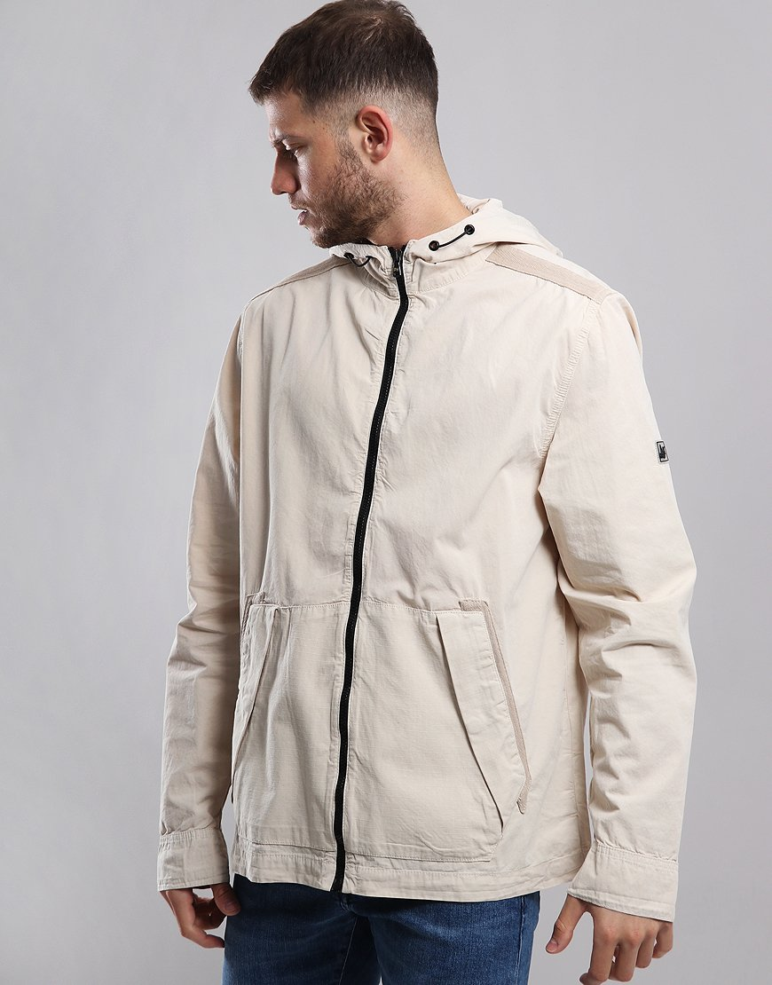 Peaceful Hooligan Ray Hooded Jacket Oyster