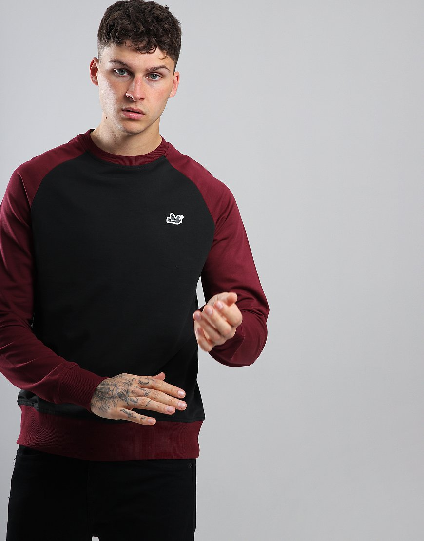 Peaceful Hooligan Blackwell Crew Sweat Black/Claret