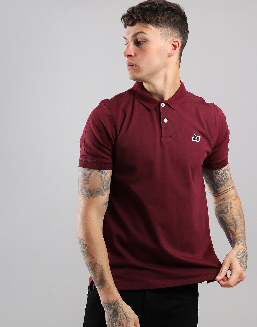 Peaceful Hooligan Brian Polo Shirt Claret