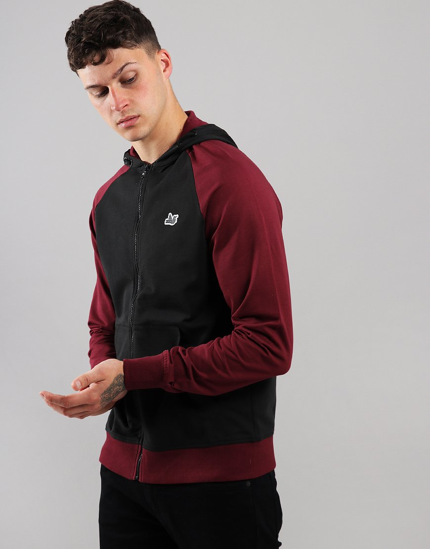 Peaceful Hooligan Ridgewood Hoodie Black/Claret