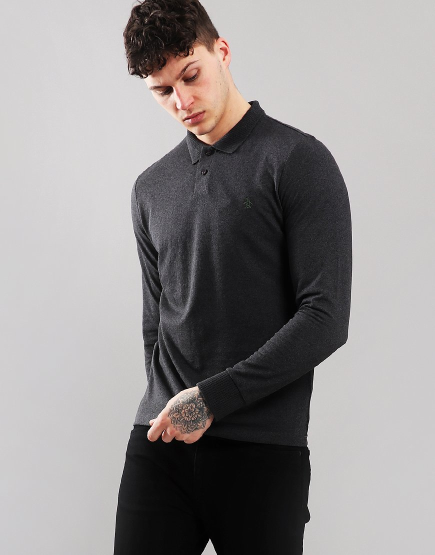 Penguin Chunky Rib Long Sleeve Dark Charcoal