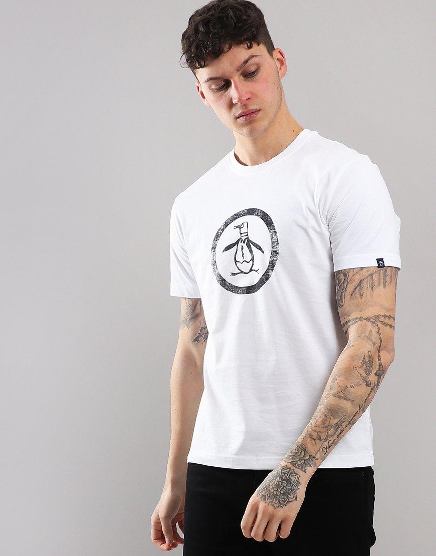 Penguin Distressed Circle T-Shirt Bright White