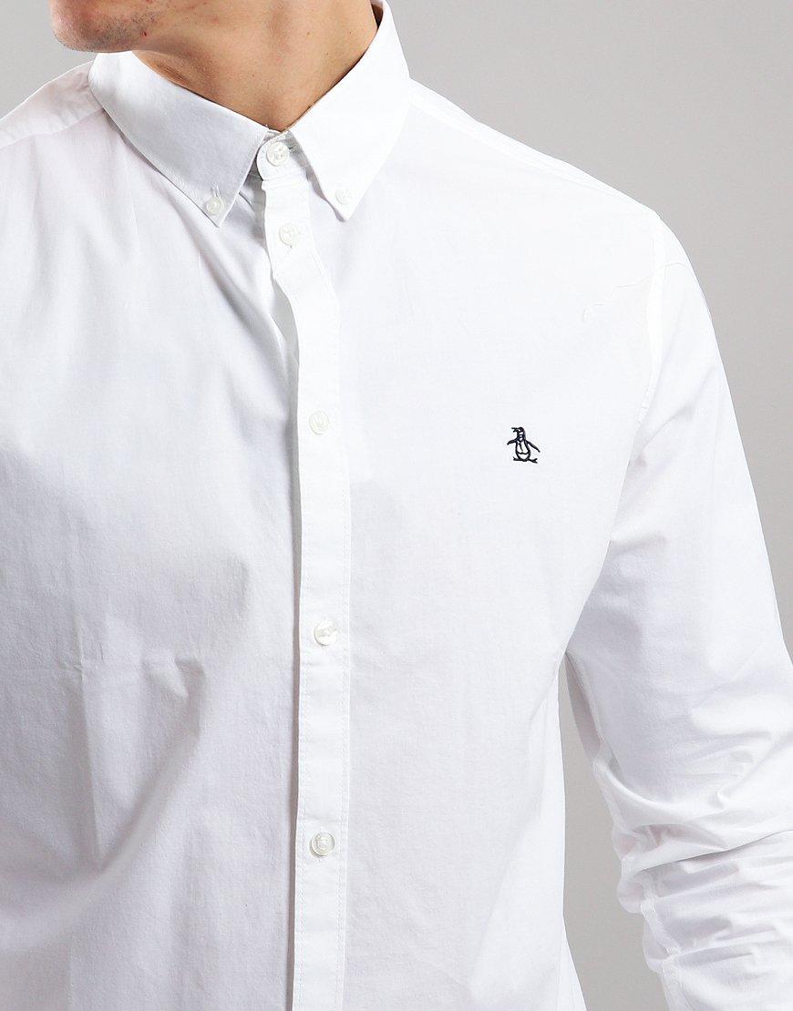 Penguin Long Sleeve Poplin Shirt Bright White