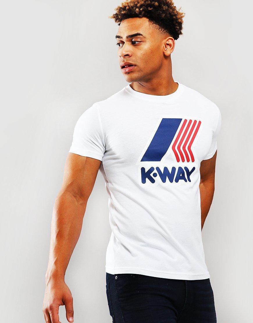 K-Way Pete Macro Logo T-Shirt White