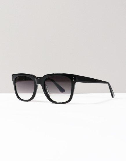 Pretty Green Square Frame Acetate Sunglasses Black