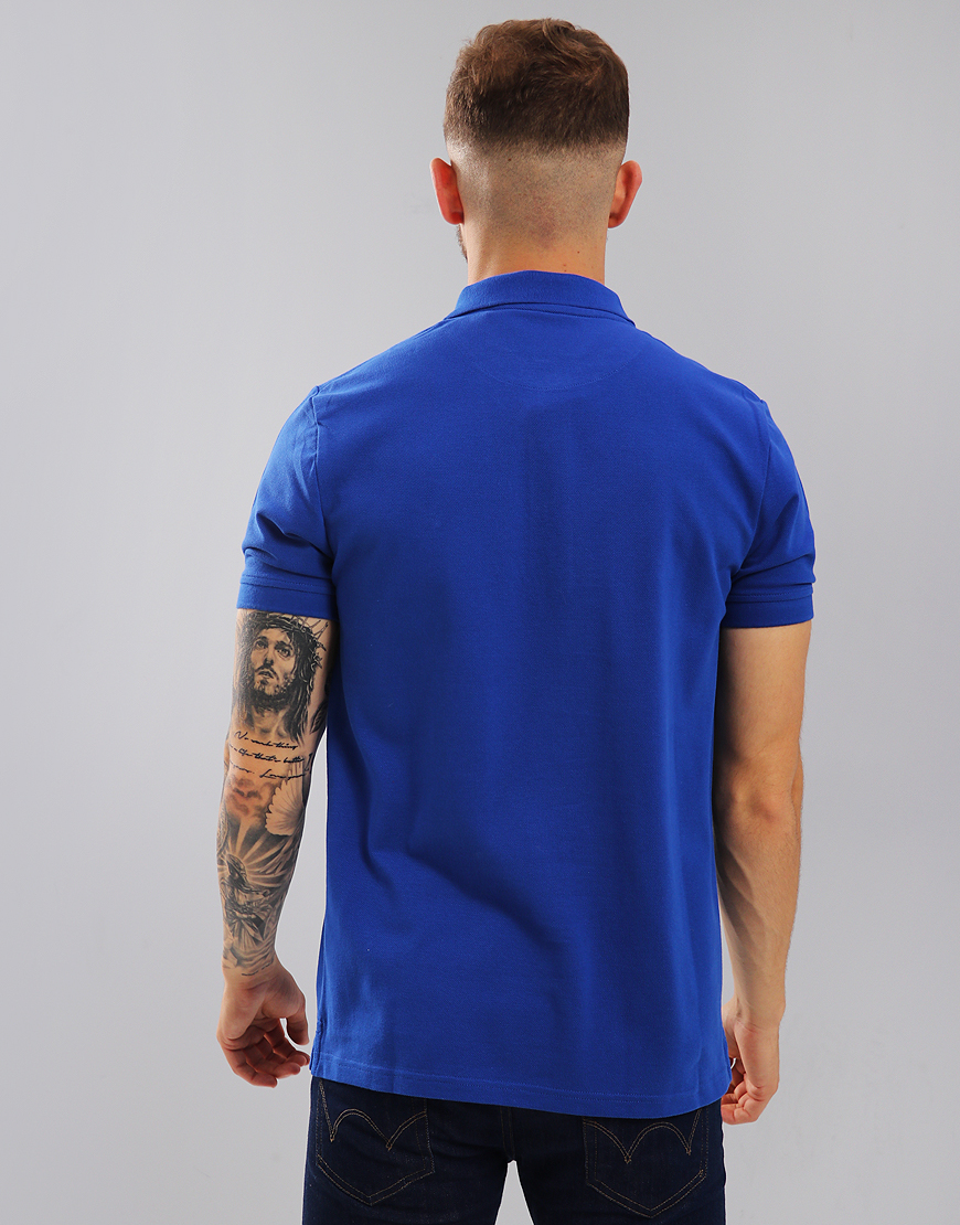 8384267bb Lyle & Scott Plain Polo Shirt Duke Blue - Terraces Menswear