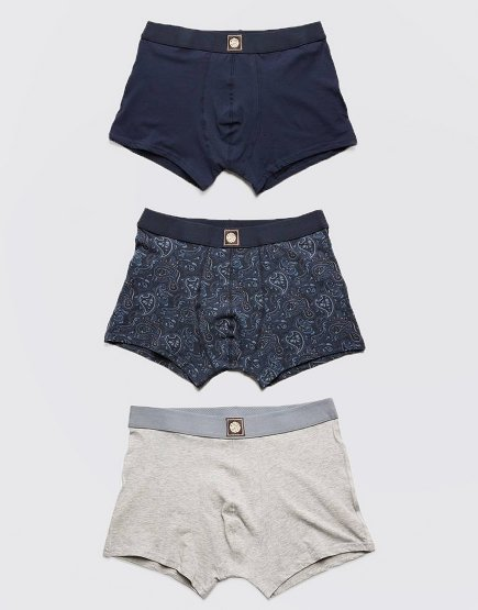 Pretty Green 3 Pack Paisley Boxer Shorts Black