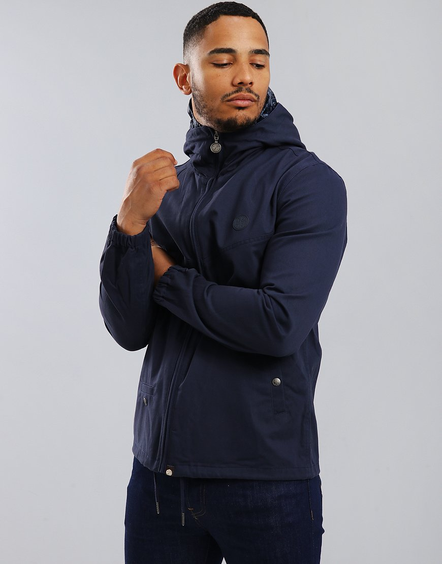 Pretty Green Beckford Hooded Jacket Navy