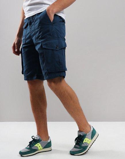 Pretty Green Cargo Shorts Blue