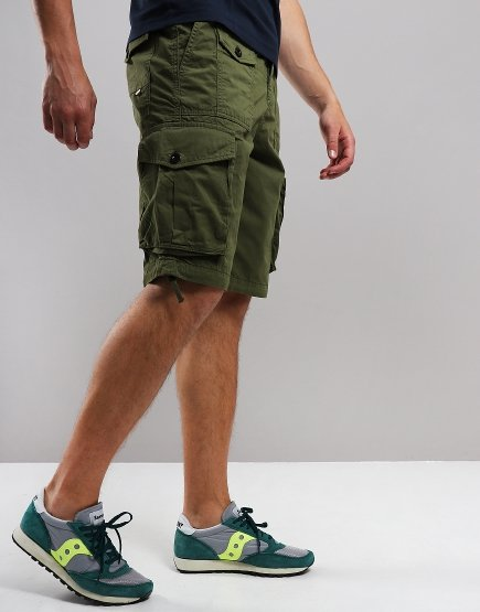 Pretty Green Cargo Shorts Khaki