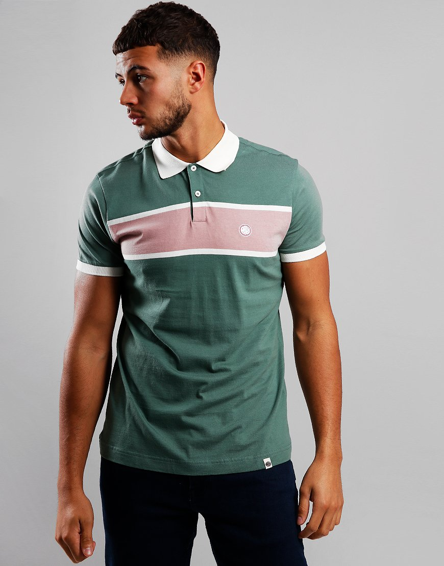 Pretty Green Colour Block Polo Shirt Green