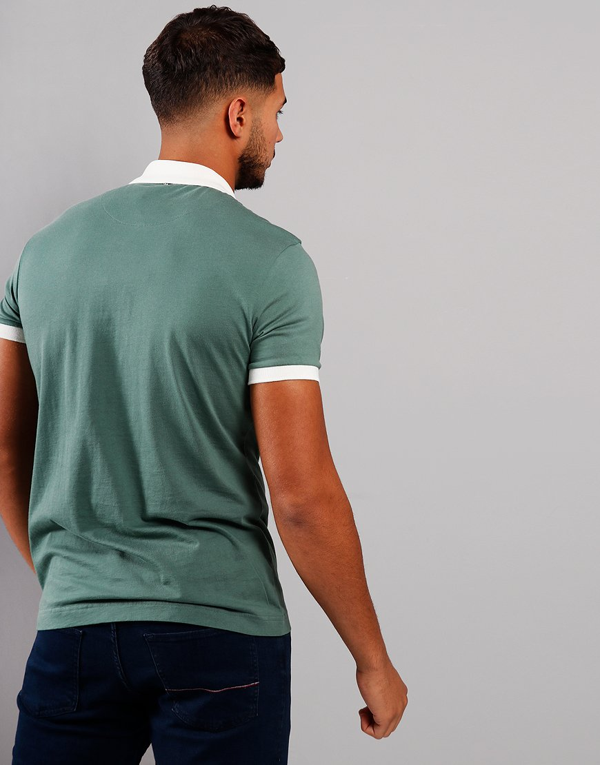 Pretty Green Colour Block Polo Shirt Green