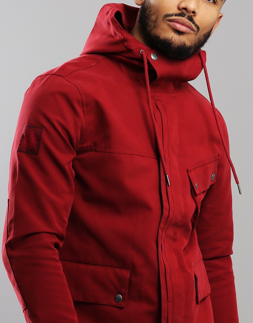 aa5d733c6 Pretty Green Contrast Colour Hooded Jacket Red
