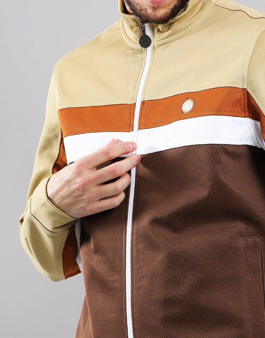 2c6c85e1 Pretty Green Contrast Panel Track Top Brown Combo - Terraces Menswear
