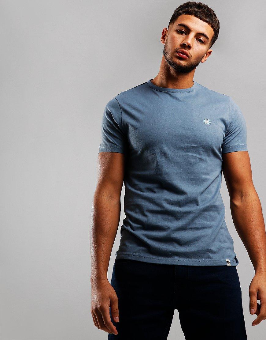 Pretty Green Cotton Logo T-Shirt Blue