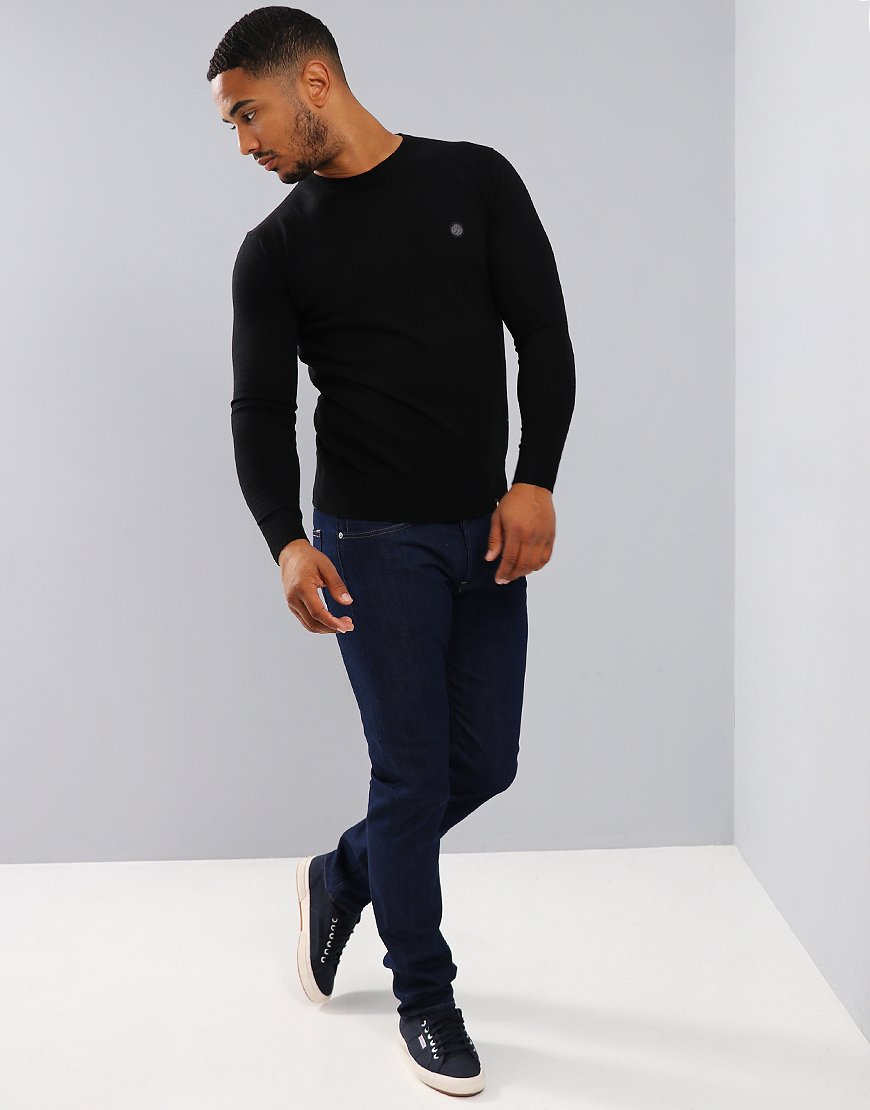 Pretty Green Hinchcliffe Crew Knit Black